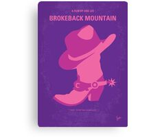 No369 My Brokeback Mountain minimal movie poster Canvas Print