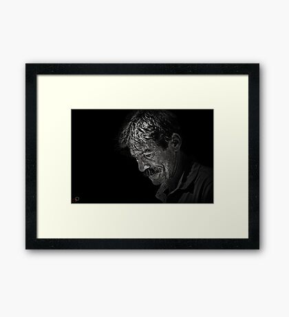 Faces of Venice - The Street Artist Framed Print