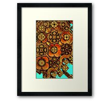 Earth tones abstract Framed Print