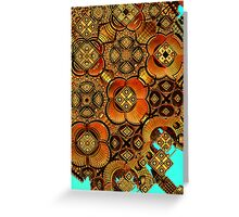 Earth tones abstract Greeting Card