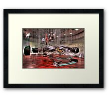 Mercedes GP Exploded - HDR Framed Print