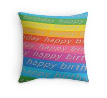 Rainbow birthday Throw Pillow