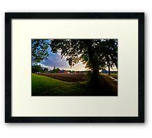 Glastonbury at Dusk Framed Print