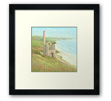 Wheal Coates Mine, St Agnes, Cornwall Framed Print