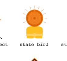 Michigan State Symbols - Sticker Sticker