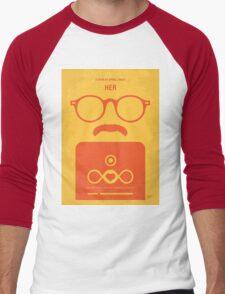 No372 My HER minimal movie poster Men's Baseball ¾ T-Shirt