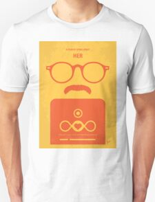 No372 My HER minimal movie poster T-Shirt