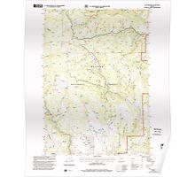 USGS Topo Map Oregon Flag Prairie 279887 1999 24000 Poster