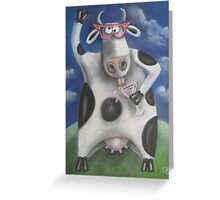 Silly Cow Greeting Card