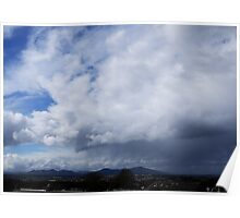 Cloudy Sky and Landscape Poster