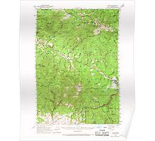 USGS Topo Map Oregon Bates 282238 1951 62500 Poster