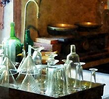 Glass Funnels and Bottles by Susan Savad