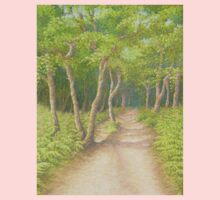 Path Through the Trees, Leith Hill, Surrey Baby Tee