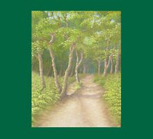 Path Through the Trees, Leith Hill, Surrey Unisex T-Shirt