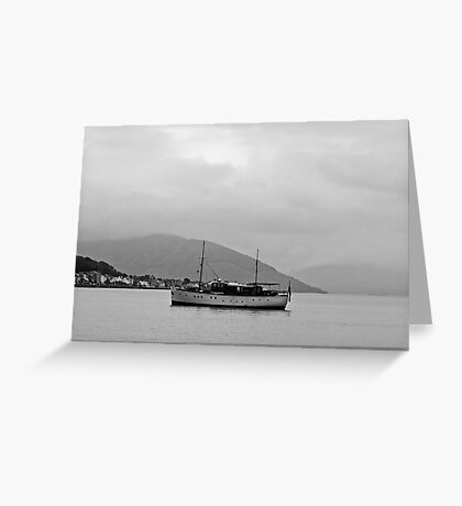 Cabin Cruiser Rothesay Harbour Isle of Bute Greeting Card