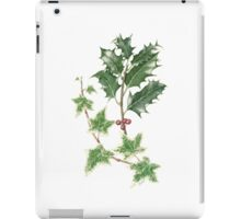 Christmas Holly and Ivy in Watercolour iPad Case/Skin