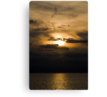 Sunset Breaking Through The Clouds Canvas Print
