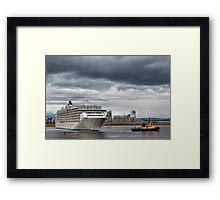 Moving The World Framed Print