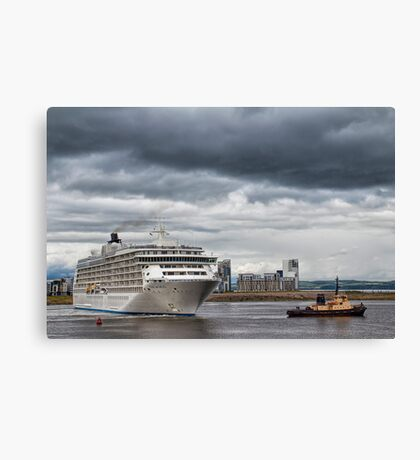 Moving The World Canvas Print