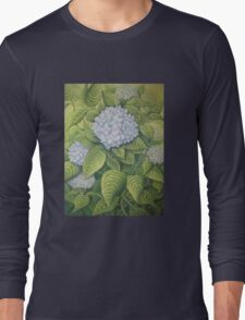 Hydrangeas at Lanhydrock, Cornwall Long Sleeve T-Shirt