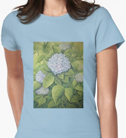 Hydrangeas at Lanhydrock, Cornwall Womens Fitted T-Shirt