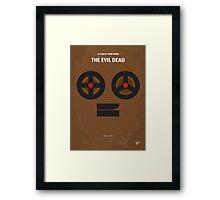No380 My The Evil Dead minimal movie poster Framed Print
