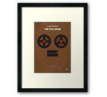 No380 My The Evil Dead minimal movie poster Framed Print