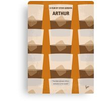 No383 My Arthur minimal movie poster Canvas Print