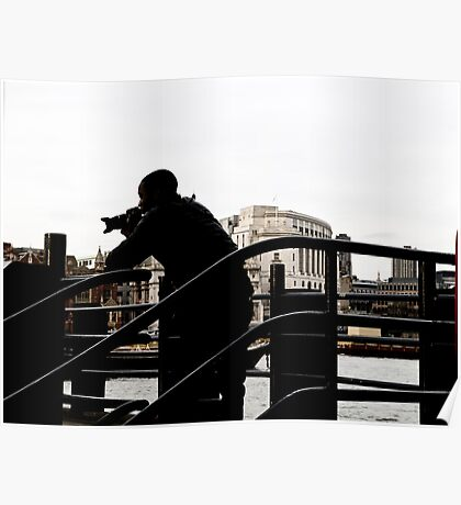 Person in Landscape Poster