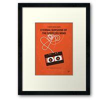 No384 My Eternal Sunshine of the Spotless Mind minimal movie poster Framed Print