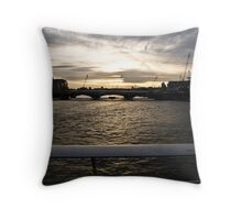 Thames scape Throw Pillow
