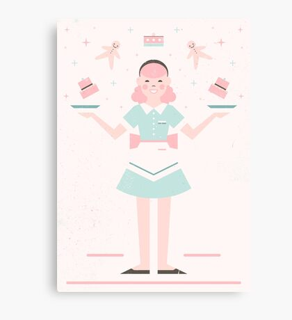 Pink Sugar Baking Girl Canvas Print