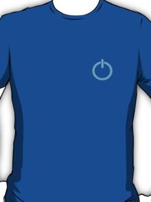 Power Up logo! - Blue T-Shirt