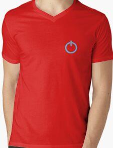 Power Up logo! - Blue Mens V-Neck T-Shirt