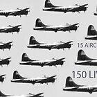 15 PLANES 150 LIVES by SMOKEYDOGSOCKS