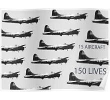 15 PLANES 150 LIVES Poster