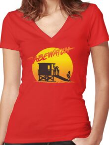 Babewatch (Baywatch) Women's Fitted V-Neck T-Shirt