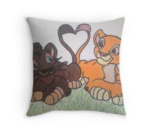 Lion King 2 Cubs Throw Pillow