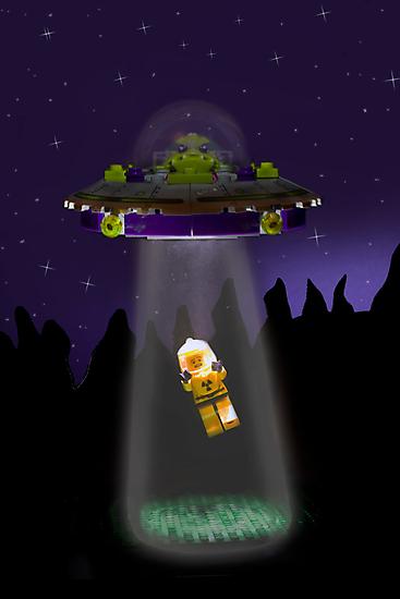 Lego Alien Abduction by Kevin  Poulton - aka 'Sad Old Biker'