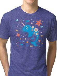 Narwhal & Babies Tri-blend T-Shirt