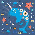 Narwhal & Babies by CarlyWatts