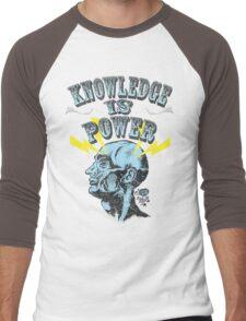 Knowledge is Power Men's Baseball ¾ T-Shirt