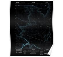 USGS Topo Map Nevada Thousand Creek Gorge 20111229 TM Inverted Poster