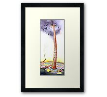 """The Unbearable Burden"" The Tower of Babel revisited  Framed Print"