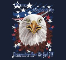 Grand Ol' Eagle-Independence Day One Piece - Short Sleeve