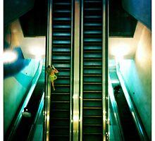 Escalators, IFC, Hong Kong by Cara Gallardo Weil
