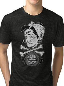 Zombie Roller Derby Girls Tri-blend T-Shirt