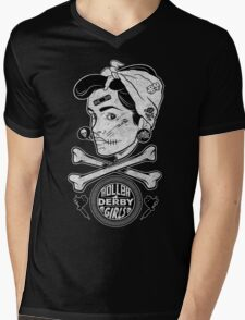 Zombie Roller Derby Girls Mens V-Neck T-Shirt