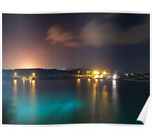 Harbour by night Poster
