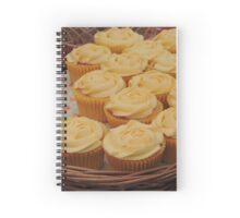 Lemon Cupcake Basket Spiral Notebook